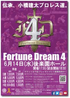フォーチュンドリーム4 ポスター(2017年6月14日後楽園ホール)